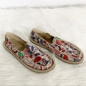 Sanuk Shoes - Sanuk | Patriotic American Slip-on Loafers SZ 8